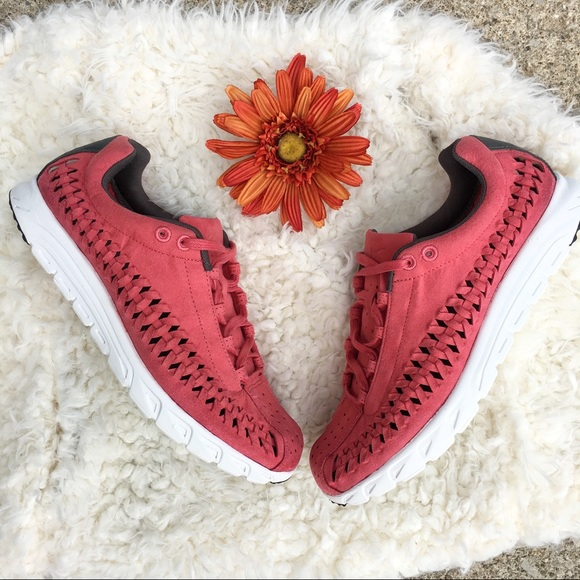 Nike Mayfly Woven Shoes in Terra Red Grey 0608e7976